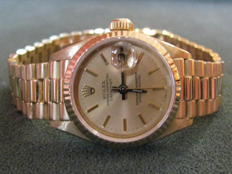 rolex president datejust in 18k gold box and